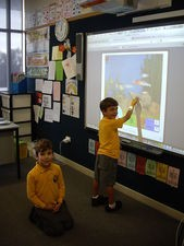 Kindergarten interactive board.